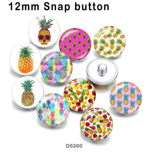 10pcs/lot  pineapple  glass picture printing products of various sizes  Fridge magnet cabochon