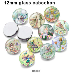 10pcs/lot  Elves  glass picture printing products of various sizes  Fridge magnet cabochon