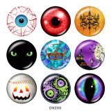 20MM Halloween Eye Print boutons pression en verre