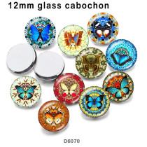 10 pcs/lot produits d'impression d'image en verre papillon de différentes tailles cabochon d'aimant de réfrigérateur