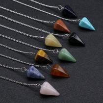 Pierre semi-précieuse en cristal d'agate, cristal d'énergie, sept chakras, équilibre, guérison, méditation, pendule de divination hypnotique