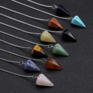 Agate crystal semi-precious stone, energy crystal, seven chakras, balance, healing, meditation, hypnotic divination pendulum