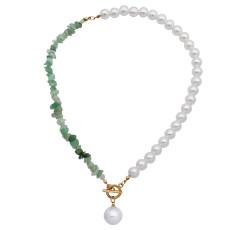 Аметист кристалл щебень цепочка ключица жемчужное ожерелье женское многоцветное шить жемчужное ожерелье