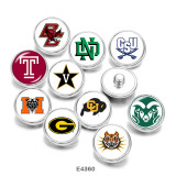 Стеклянные кнопки с принтом 20 мм NCAA School Team