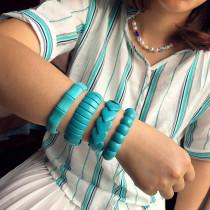 Türkis Armband Retro Modeschmuck Männer und Frauen Armbänder