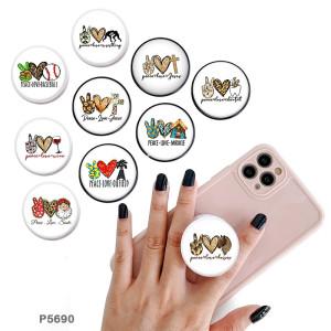 Love The Handyhalter Lackierte Telefonbuchsen mit schwarzem oder weißem Druckmusterboden