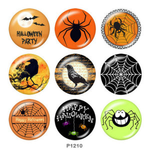 20MM Halloween Print Glasdruckknöpfe