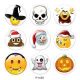 Стеклянные кнопки с принтом Хэллоуина 20 мм