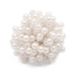 20MM Mehrere feine Perlen mit Druckknöpfen auf der Rückseite aus Legierung