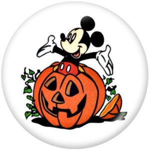 Boutons pressions en verre imprimé Halloween 20MM
