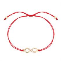 Echtes Gold Überzogene Unendliche Liebe Zirkon Freundschaft Unendliches Symbol Armband Farbe Erhalten Hochwertigen Schmuck