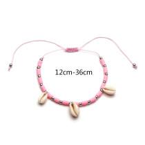 Weiße Muschel rosa weiche Keramik Fußkettchen Armband Umweltschutz Mode Schnur