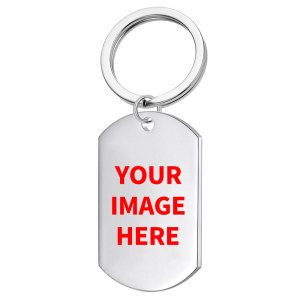 Customize the pattern you want Stainless steel printing pattern  Keychain