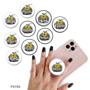 Family mother's day festival  The mobile phone holder Painted phone sockets with a black or white print pattern base