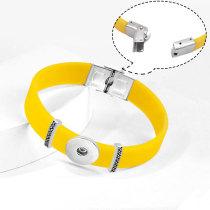 Силиконовый эластичный регулируемый браслет из нержавеющей стали DIY подходит для кусочков 20 мм