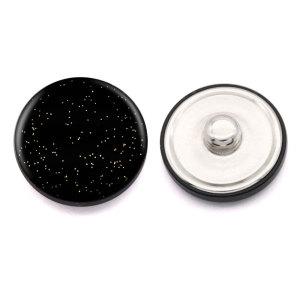 Boutons en métal brillant incurvés de 20 mm avec boutons-pression en alliage