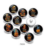 Стеклянные кнопки с принтом пугала на Хэллоуин 20 мм
