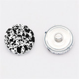 Botones de metal pintado de 20 mm con botones a presión de respaldo de aleación
