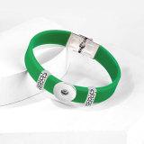 Bracelet de bricolage réglable en silicone élastique en acier inoxydable Love Fit 20mm s'enclenche en morceaux