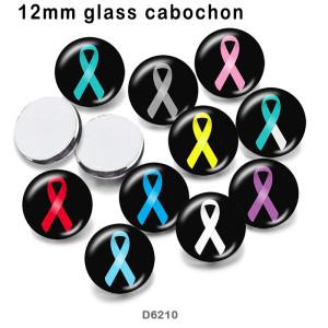 10個/ロット各種サイズのリボンガラス画像印刷製品冷蔵庫用マグネットカボション