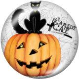 Bemalte Metalldruckknöpfe 20mm Charms Halloween Print