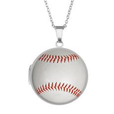 Edelstahl lackiert Phasenbox, Kettenlänge 60cm, Durchmesser 27cm Baseballball Sport Fischschuppen Anker Lebensbaum