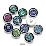 Bemalte Metalldruckknöpfe 20mm Charms Mandala Print