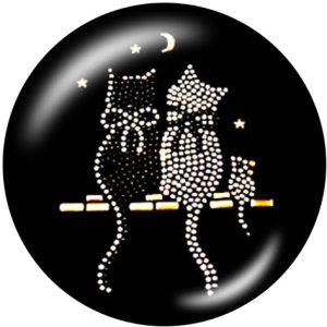 Boutons-pression en métal peint 20mm breloques professeur Cat Print