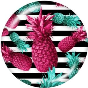Painted metal snaps 20mm  charms  Flower  Pineapple  Print    Beach Ocean