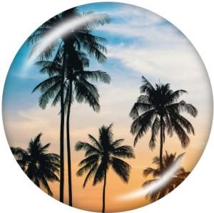 Painted metal snaps 20mm  charms sea turtle  pineapple  Print    Beach Ocean