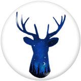 Bemalte Metalldruckknöpfe 20mm Charms Deer Print