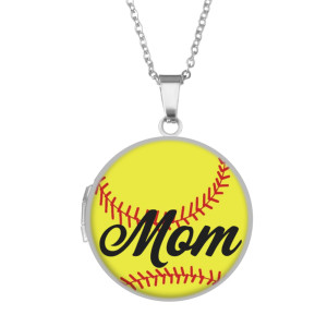 Stainless steel painted Phase box, chain length 60cm, diameter 27cm Baseball Mother's Day Animation Beach Animals