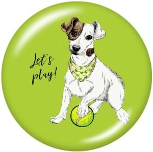 塗装された金属製のスナップボタン20mmのチャームにより、Play DogPrintが可能になります