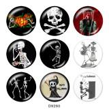 Boutons pression en métal peint breloques 20 mm Impression Halloween