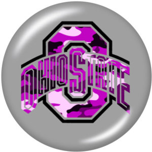 Broches de metal pintado Encantos de 20 mm Impresión del equipo escolar de la NCAA