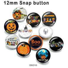 10pcs/lot  Halloween  glass picture printing products of various sizes  Fridge magnet cabochon