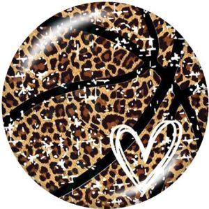 Leopard Love Der Handyhalter Lackierte Telefonsteckdosen mit schwarzem oder weißem Druckmusterboden