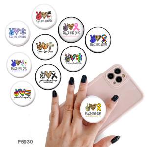 LiebesvertrauenDer Handyhalter Lackierte Telefonsteckdosen mit schwarzem oder weißem Druckmustergrund