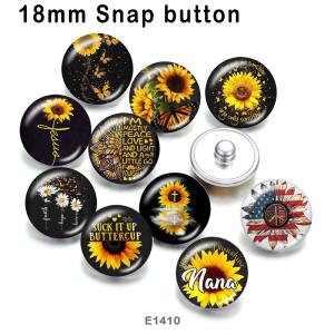 10pcs / lot Sonnenblume MOM Glasbilddruckprodukte in verschiedenen Größen Kühlschrankmagnet Cabochon