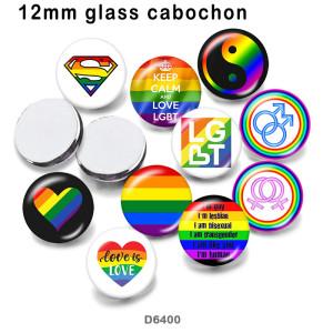 10pcs / lot Liebe Keep Calm Glasbilddruckprodukte in verschiedenen Größen Kühlschrankmagnet Cabochon