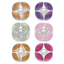 Botones a presión de esmalte de varios colores de diseño cuadrado de 20 mm