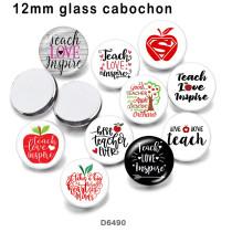 10pcs / lot Liebeswörter Glasbilddruckprodukte in verschiedenen Größen Kühlschrankmagnet Cabochon