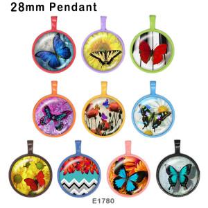 10 ピース/ロット様々なサイズの蝶ガラス絵の印刷製品冷蔵庫マグネットカボション