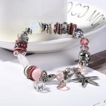 Naturstein Seestern Strand Damen Armband Perlenarmband
