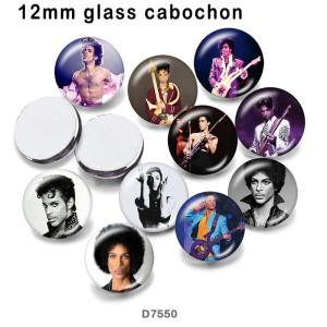 10個/ロットさまざまなサイズの有名な音楽ガラス画像印刷製品冷蔵庫用マグネットカボション