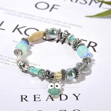 Naturstein Eule Damenarmband Perlenarmband