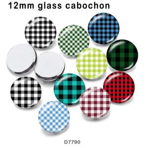 さまざまなサイズの 10 ピース/ロット パターン ガラス絵の印刷製品冷蔵庫マグネット カボション