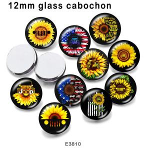 10 pcs/lot produits d'impression d'image en verre de Jeep de tournesol de différentes tailles cabochon d'aimant de réfrigérateur