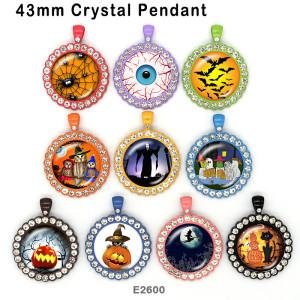 10 pcs/lot produits d'impression d'image en verre Halloween de différentes tailles cabochon d'aimant de réfrigérateur