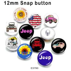 10 pcs/lot produits d'impression d'image en verre de voiture Jeep de différentes tailles cabochon d'aimant de réfrigérateur